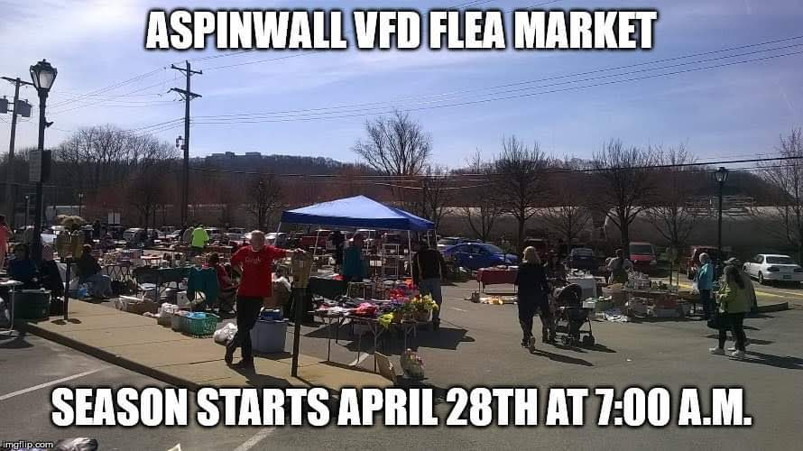 Aspinwall VFD Community Flea and Farmer's Market! Every Sunday until October 27